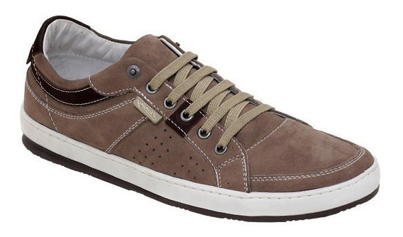 Sapato Tenis Casual Couro Palm Gel Jump Alcalay Ma10182