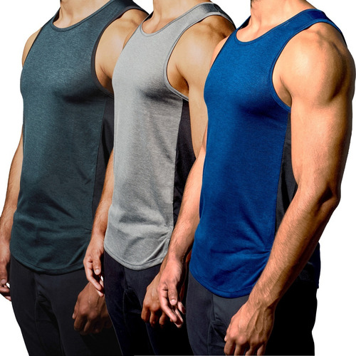 Pack X 2 Tanks Bividis Deportivos Slim Fit Gym Resles