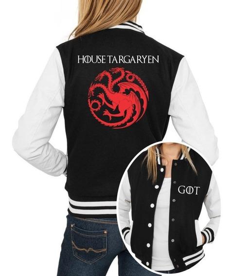Jaqueta College Feminina Game Of Thrones House Targaryen