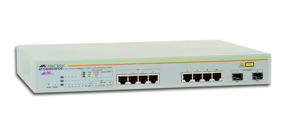 Switch 8 Ports Allied Telesis At-gs950/10ps Giga Poe 2 Sfp