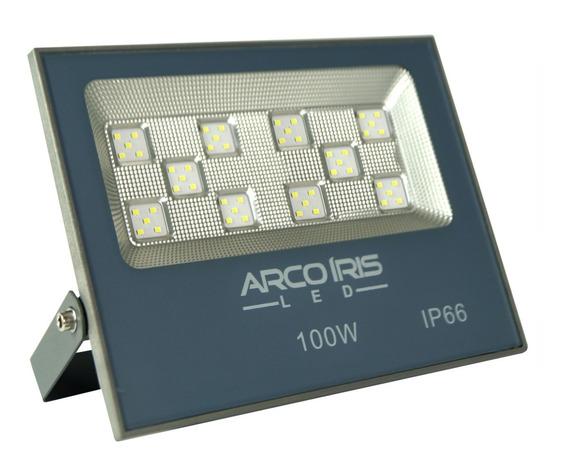 Refletor Led 100w Smd Branco Bivolt Ip66 Para Area Externa