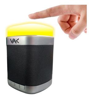 Bocina Portátil Bluetooth Vak 096 Luz Touch Usb Extra Bass
