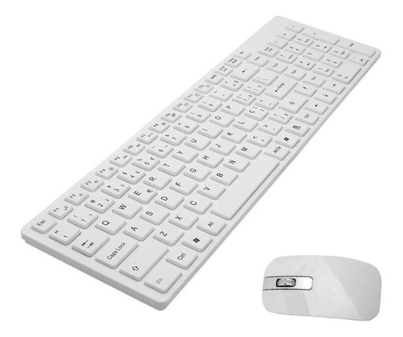 Teclado E Mouse Usb Sem Fio Pc Tablet E Notebook