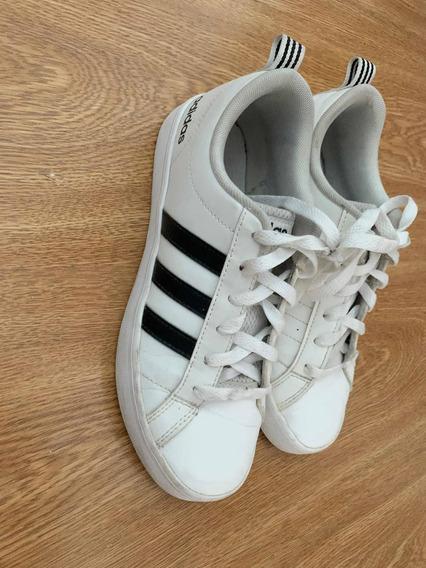 Zapatillas adidas Grand Court Mujer Talle 36 Blancas Poco Us