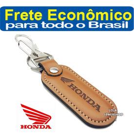 Chaveiro Mosquetão Couro Honda Moto Cb Twister - Frete R$9