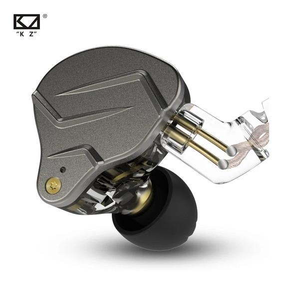 Fone Kz Zsn Pro Sem Microfone + 2 Case Brinde Pronta Entrega