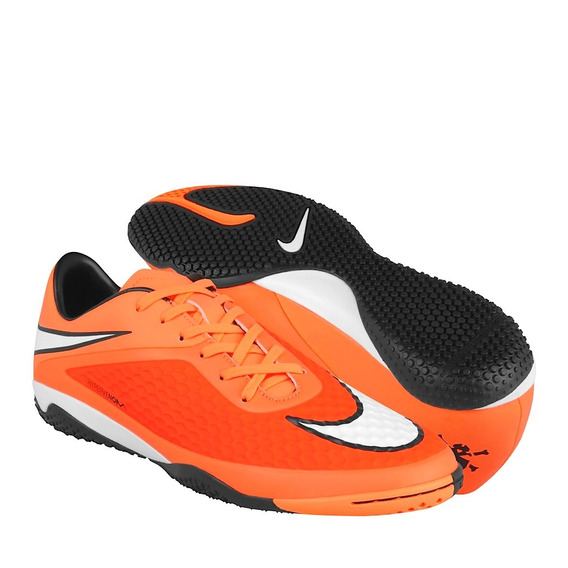 Tenis De Fútbol Nike Para Hombre Simipiel Naranja Con Blanco