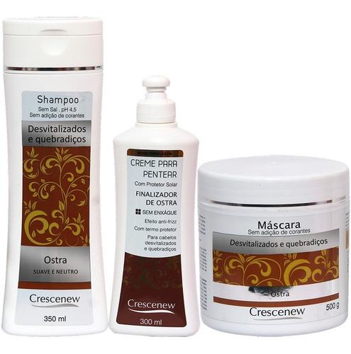 Imagem 1 de 4 de Shampoo, Creme E Máscara Coquetel De Ostra - Pentear Cabelo