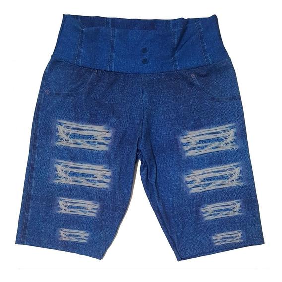 Kit 03 Bermuda Ciclista Imita Jeans Short Promoção Revenda