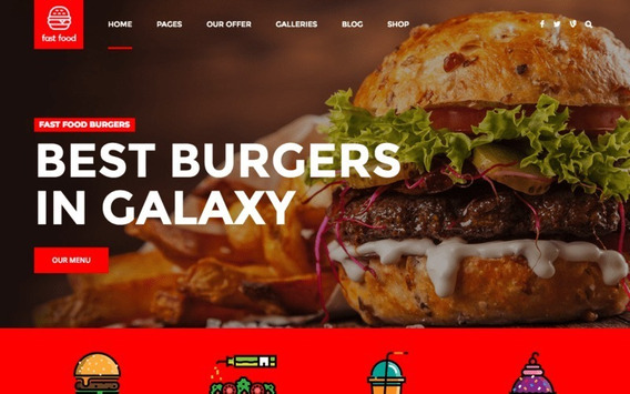 Fast Food Wordpress - Template Wordpress Para Delivery