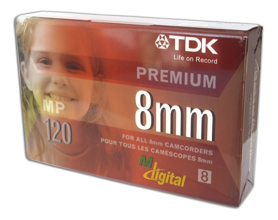 Fita Vídeo 8mm De 120 Minutos Premium Tdk Mp120 Original 1un