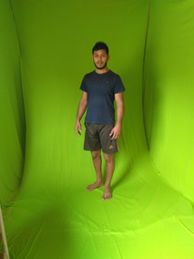 Tecido 2,05x3,00 Verde Fundo Infinito Chroma Key Youtube