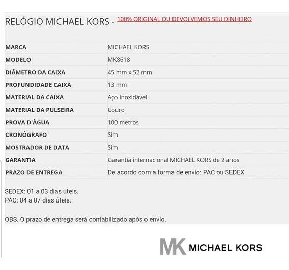 Relógio Michael Kors Mk8618 (masculino) Gage - Preto E Doura