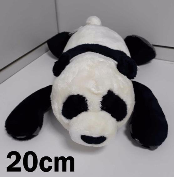 Urso Panda Nici Original De Pelúcia 20cm Naninha Bebê Neném
