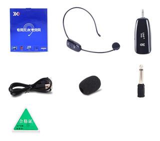 Universal 2.4g Uhf Auricular Sem Fios Microfone Headset