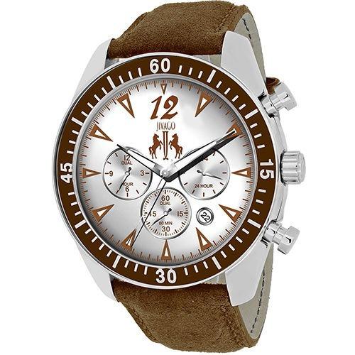 Reloj Jivago Timeless Cuero Café Multifunción Hombre Jv4512