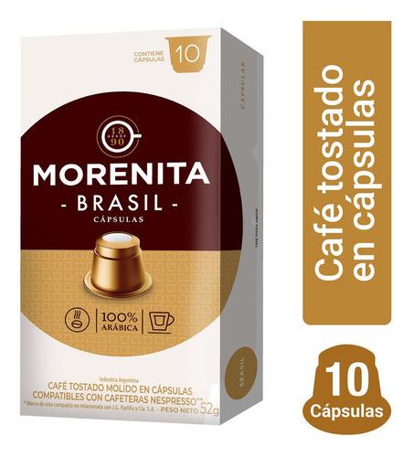 La Morenita Cafe En Capsulas Espresso Brasil 10 Capsulas