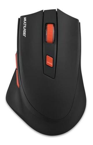 Mouse Gamer Wireless Sem Fio Multilaser 2400dpi Preto Mo295