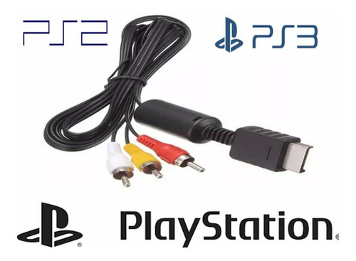Cable Av Rca Ps1 Ps2 Ps3  Audio Y Video