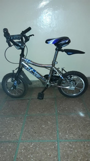 Bicicleta Raleigh Mxr Rodado 14 Rueditas Nene