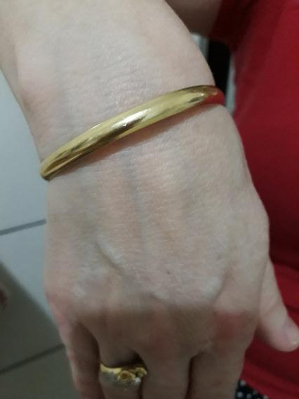 Belas Jóias :pulseira Algema Em Ouro 18 K