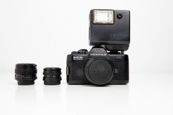 Câmera Fotográfica Pentax Auto 110 Super Coleção