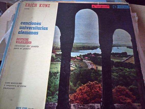 Vinilo Erich Kunz Canciones Universitarias