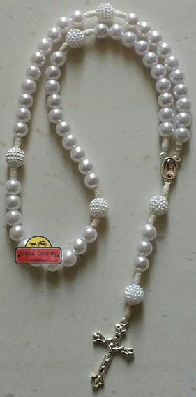 Terço Nossa Senhora De Fatima Catolico Branco
