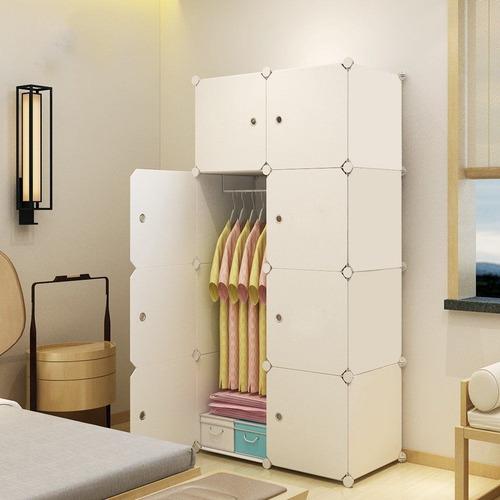 Mueble Multifuncion De 8 Estantes Con Perchero - Ropero
