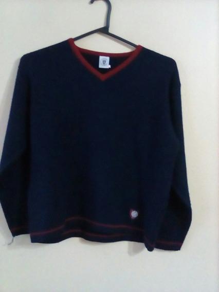 Sweater De Lana Con Escudo San Lorenzo Original