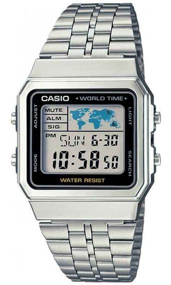 Relógio Casio Vintage Unissex Digital A500wa 1df Hora Mundi