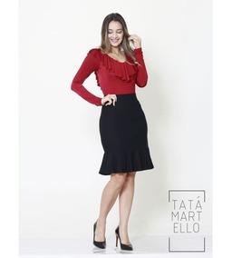 Body Feminino Com Babados  tatá Martello