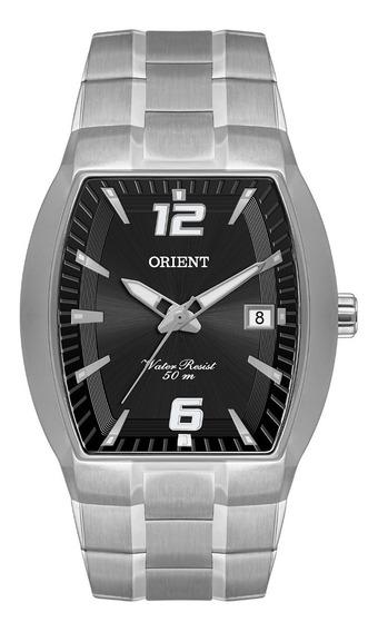 Relógio Orient Masculino Gbss1053 P2sx Prata Preto Quadrado