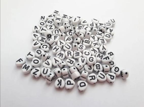 Paquete 1500 Letra Elegir Cuentas Acrilico Plastico Pulseras
