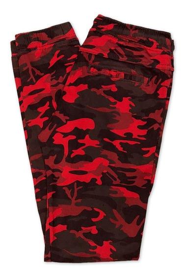 Pantalón Jogger Camuflaje Militar Skinny De Gabardina Hombre