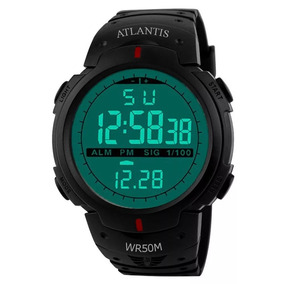 Relógio Digital Atlantis Sport Shock Militar A Prova D´água