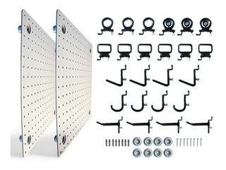 Panel Modular Porta Herramientas Organizador 24 Soportes