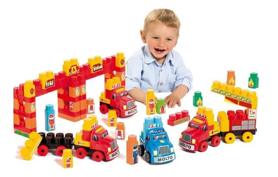 Brinquedo Educativo Super Resgate Baby Land 4 Caminhões