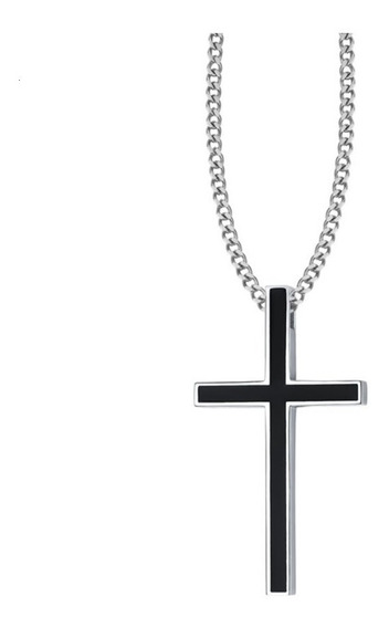 Crucifijo Cruz Jesucristo Acero Inoxidable Collar Unisex
