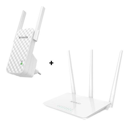 Router Wifi Tenda F3 + Repetidor Extensor A9