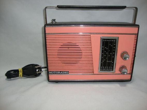 Antigo Radio Portatil Motoradio Anos 70 Funcionando Rd001
