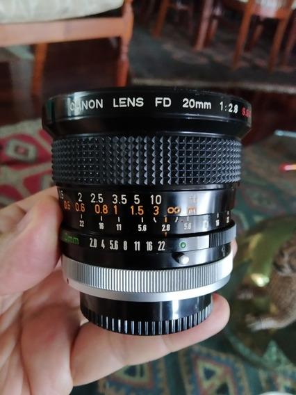 Lente Canon Fd 20mm F/2.8