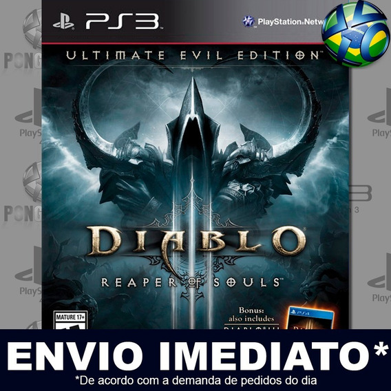 Diablo Ill 3 Reaper Of Souls Ultimate Evil Edition Ps3 Envio Digital Psn Jogo Em Promoção