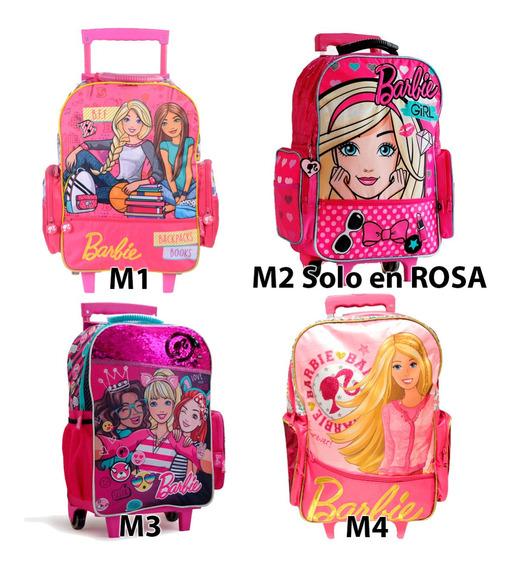 Mochila Barbie Carro 18p Cuotas Mmk 16792