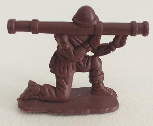 Soldadito Con Bazooka De Juguete Plastico Figura Retro