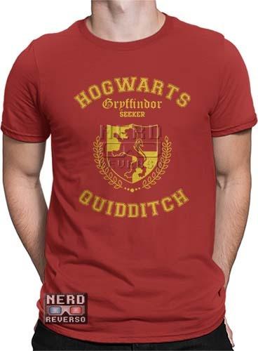Camisetas Harry Potter Gryffindor Grifinória Hogwarts