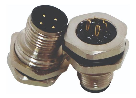 Conector Painel M12 4 Pinos Macho Para Sensor(soquete)