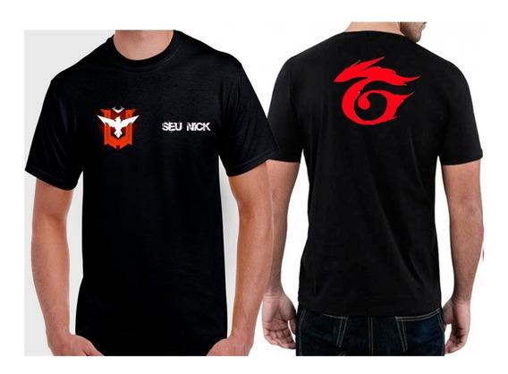 Camiseta Free Fire Mestre+ Nick Garena Nas Costas