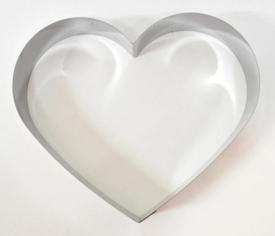 Molde Cortante Corazón Acero Inox Reposteria Molde 24cm