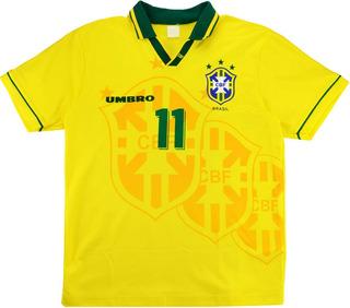 Camisa Seleção Brasileira Umbro Oficial Retro Romario 1994